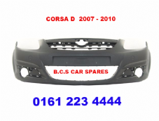 VAUXHALL CORSA  D    MK 3  FRONT BUMPER   2007 - 2010     NEW  NEW   ( IN PRIMER READY FOR PAINT )